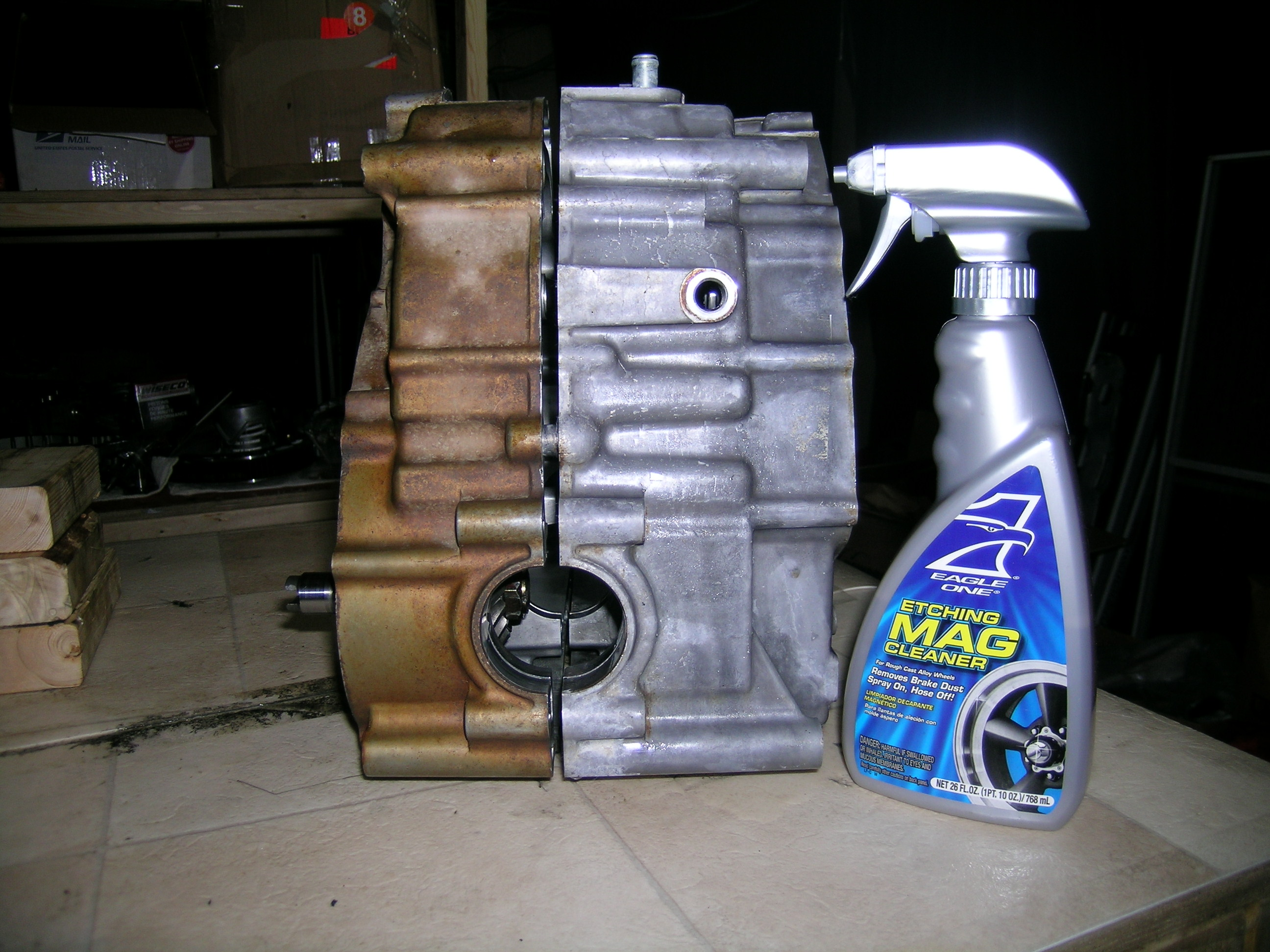 Cleaning engine cases