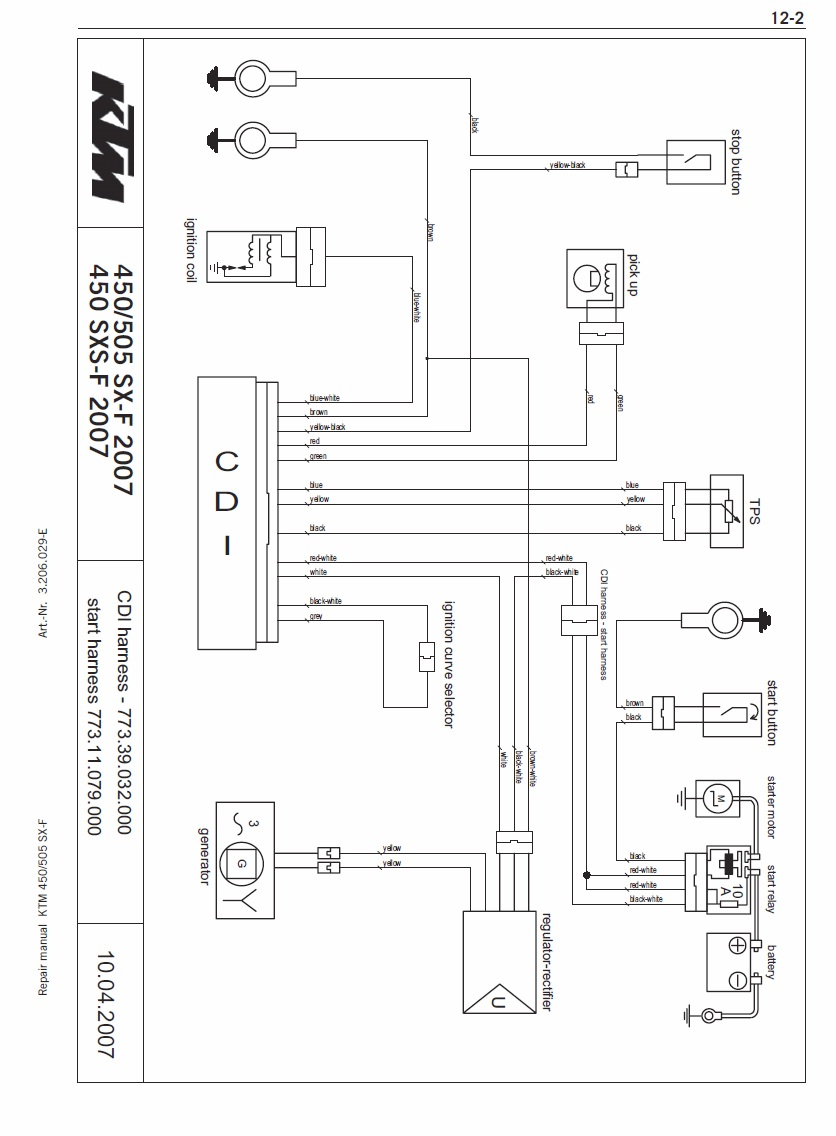 2003 ktm 125 sx wiring diagram